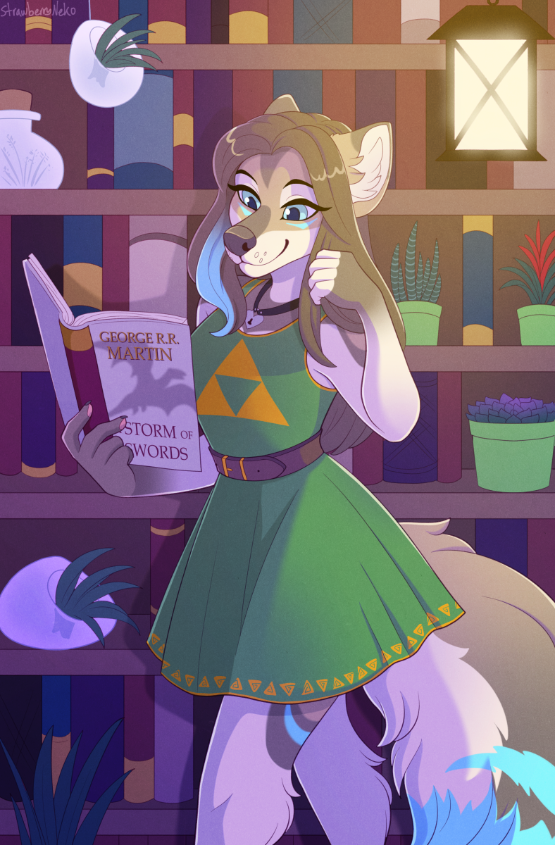 Plants and Books - Commission