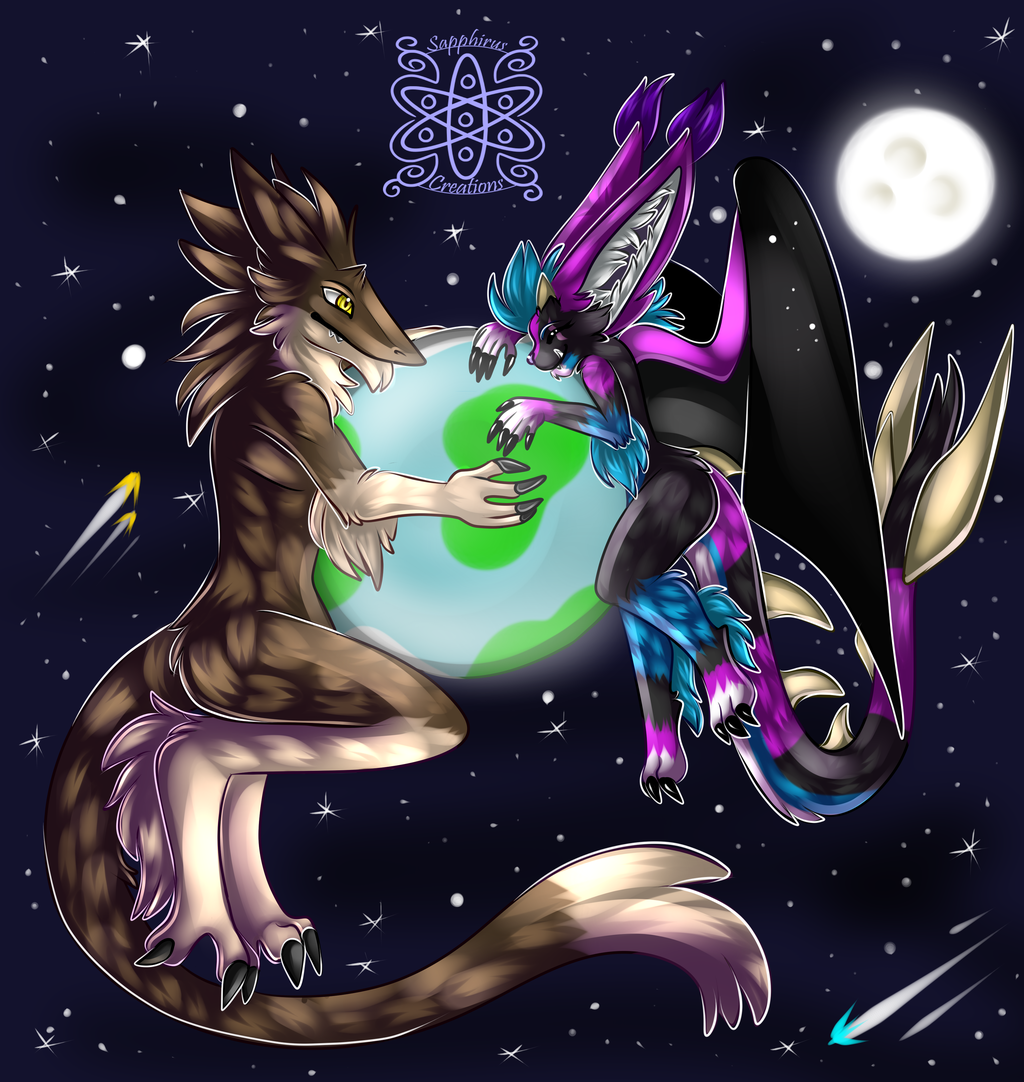 Hugging the Earth +Full Shaded Commission