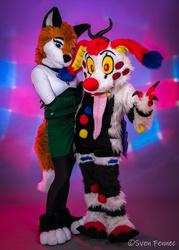 Pretty Fox And Scary Clown