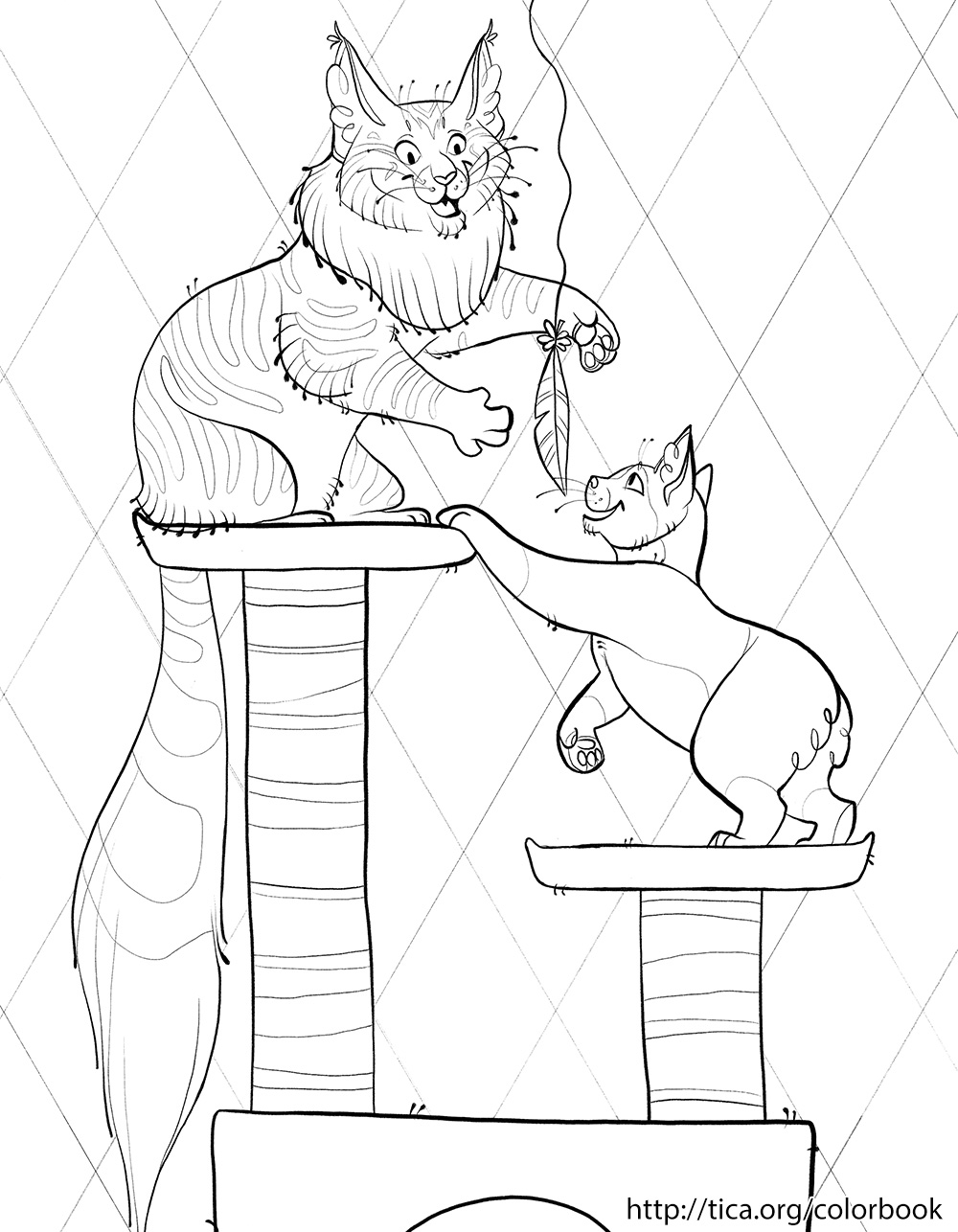 tica cat coloring book page 7 u2014 weasyl