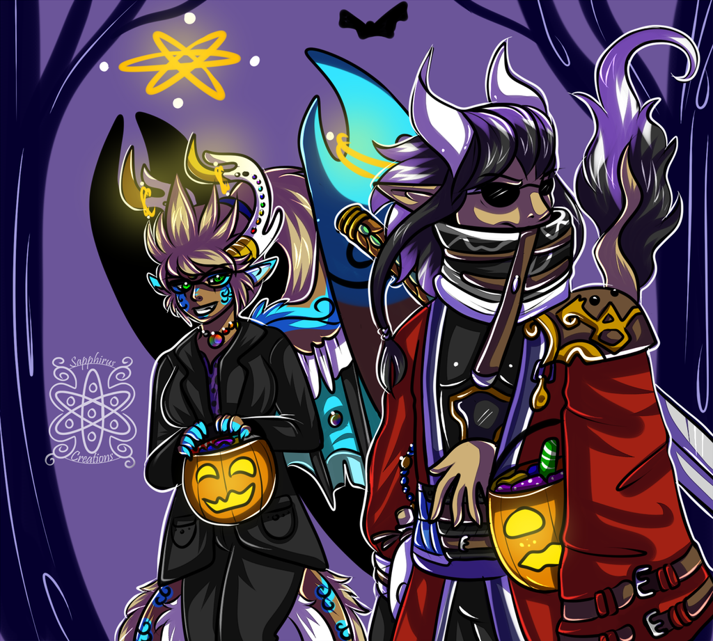 Final Fantasy Halloween  +Cellshade Commission+
