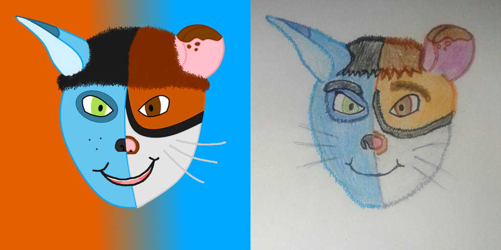 Two faced - digital v traditional!
