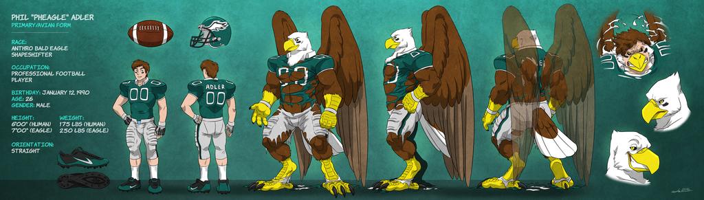 """Phil """"Pheagle"""" Adler - Eagle Form: Model Sheet"""