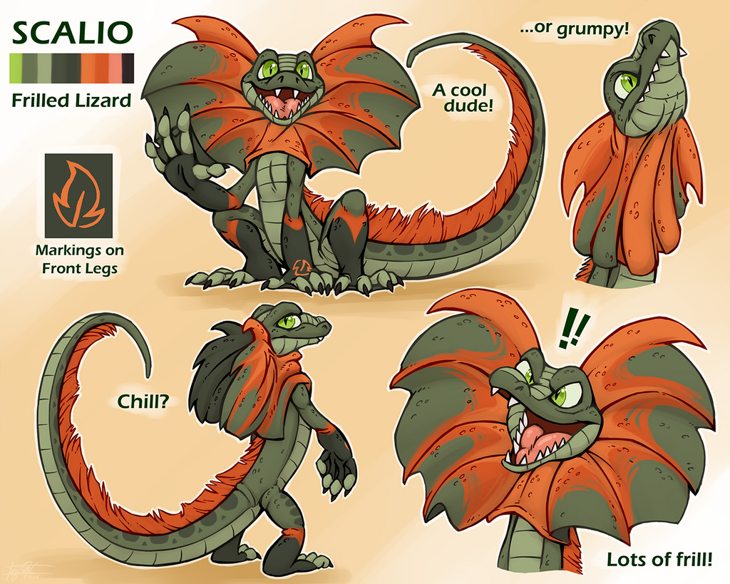 Scalio - Frilled Lizard Reference