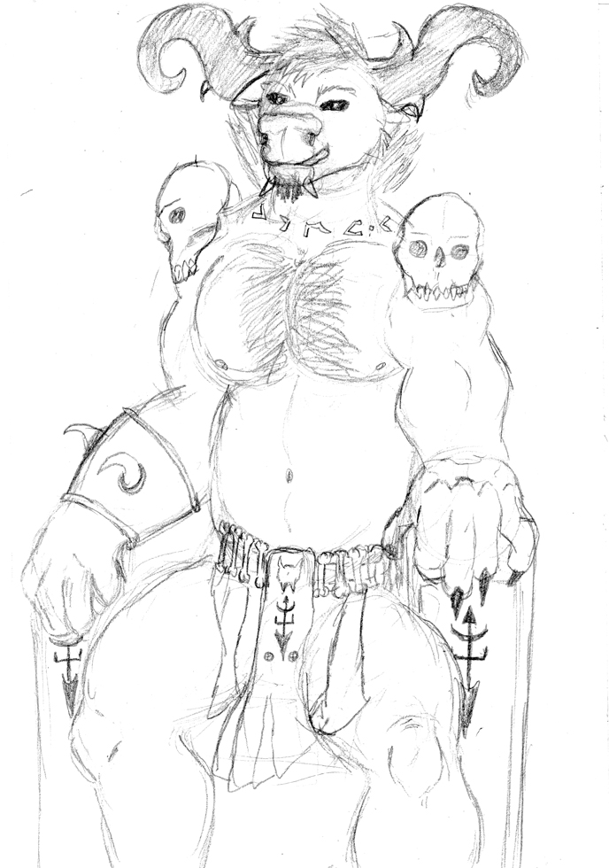 Most recent image: Sketch: Burik The Demon