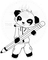 panda pen doodle