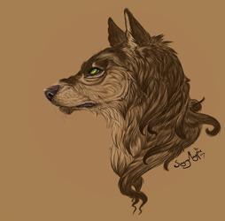 Haru - Werewolf bust