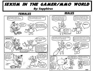 Sexism on MMOs +Tit pics or you got a dick+
