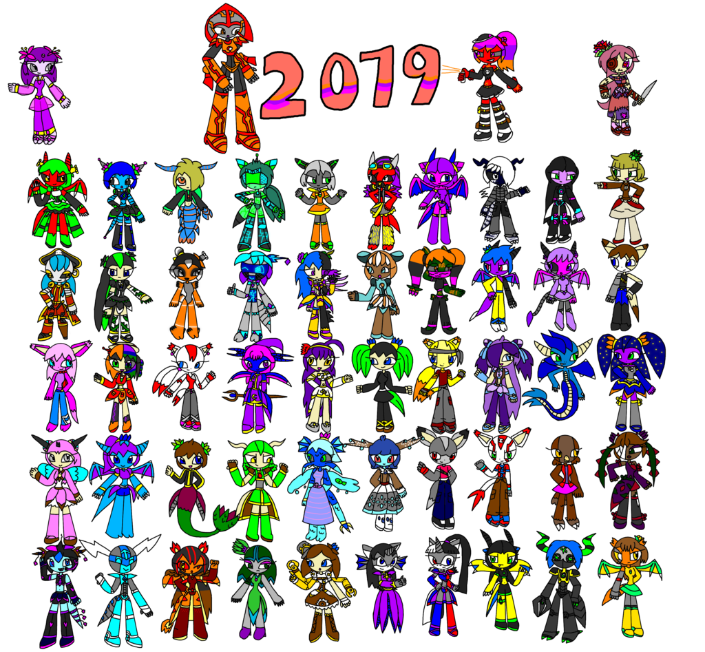 2019 Character Collage