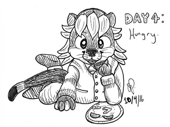 Inktober Day 4: Hungry (October 2016)