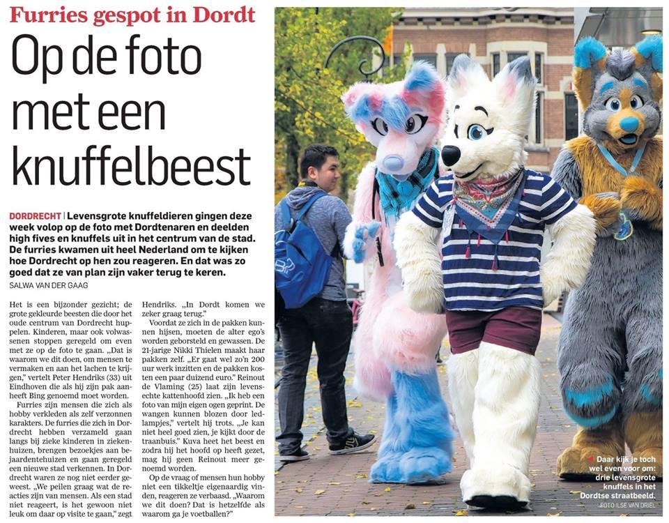 The article that we did for the newspaper AD de Dordtenaar.