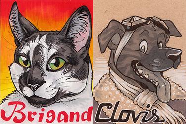 Pet Badges - Brigand and Clovis - BLFC