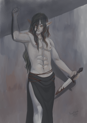 Ritual Blade (pin-up art)