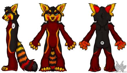 Elemental Red Panda - Fire/Earth - Lava - Techekamen