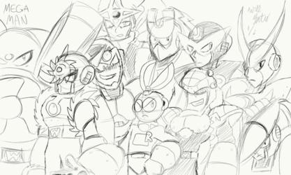 Robot Master Collage (Sketch)