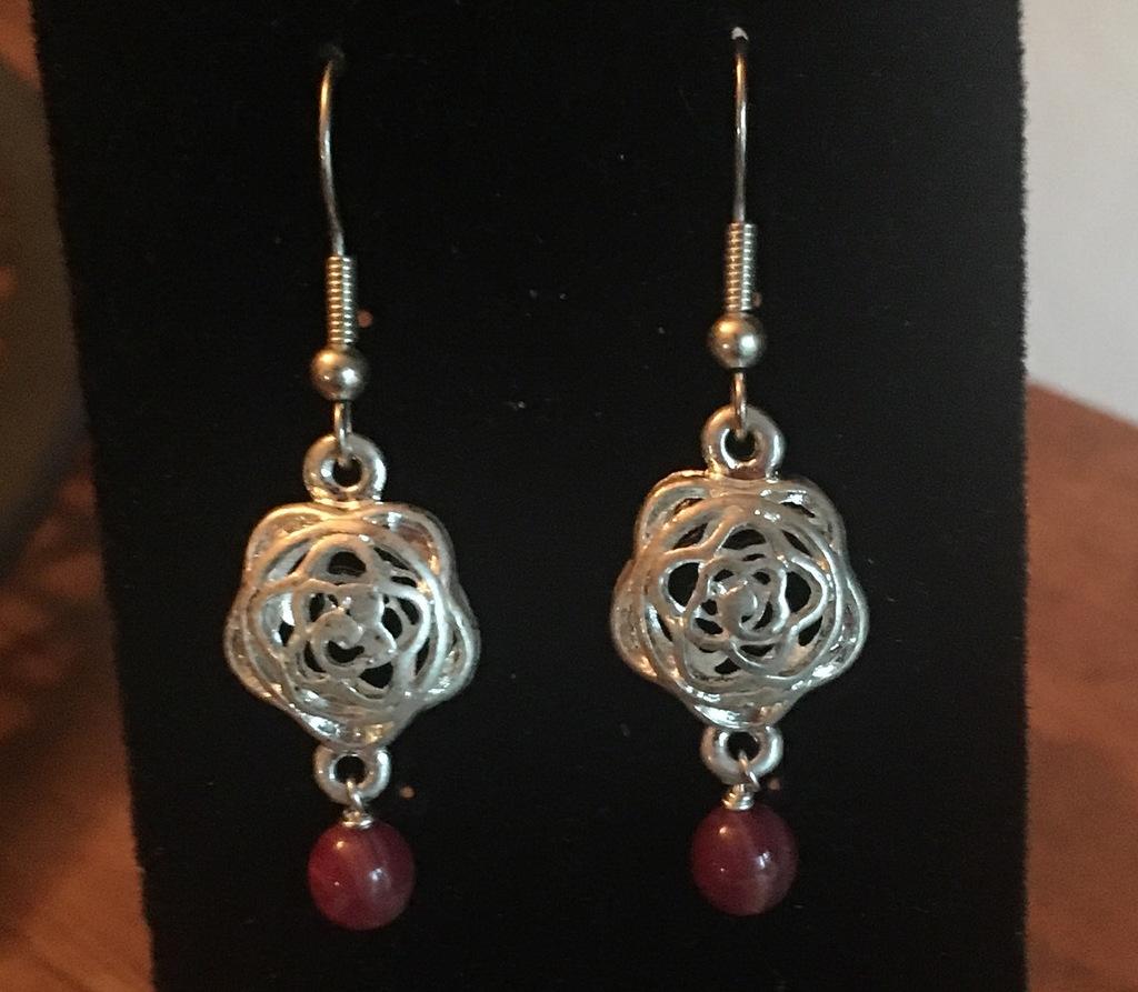 Metal Rose Earrings