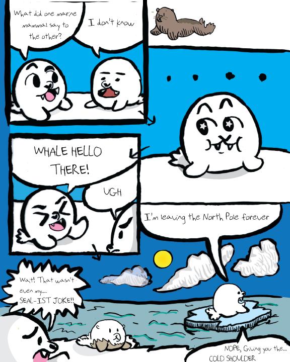 Seals Telling Puns, The Comic