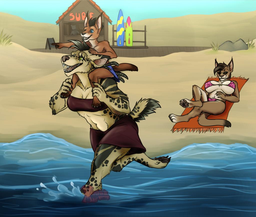 beach dayyy (modernAU edition)