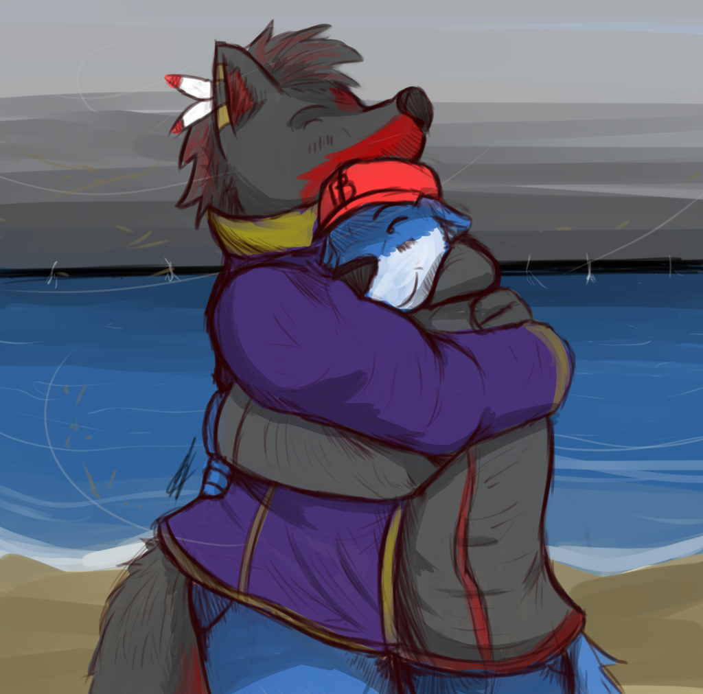 A NEEDED Hug By Gulidthewolf