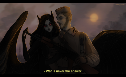 War is never the answer