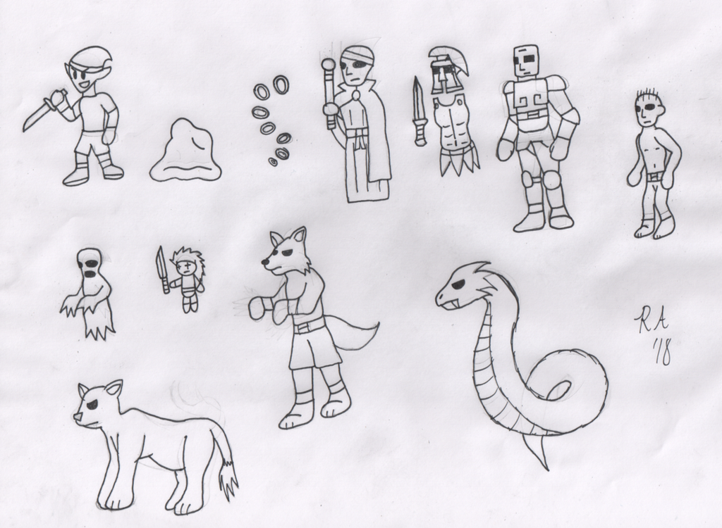 Monsters - Game Concept Art