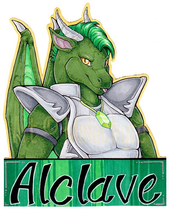 [Badge] Alclave Cutout Badge