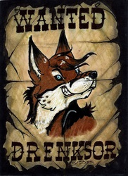 Wanted Badge ~ Drenksor