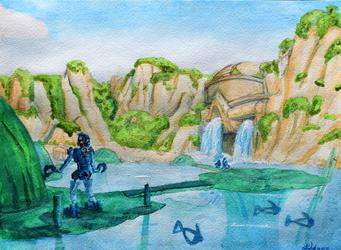 Artist's Tour of the Bionicle Universe: Naho Falls, Ga-Koro