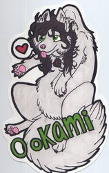 Scruff Badge - Ookami