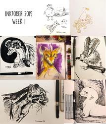 Inktober 2019 - Week 1