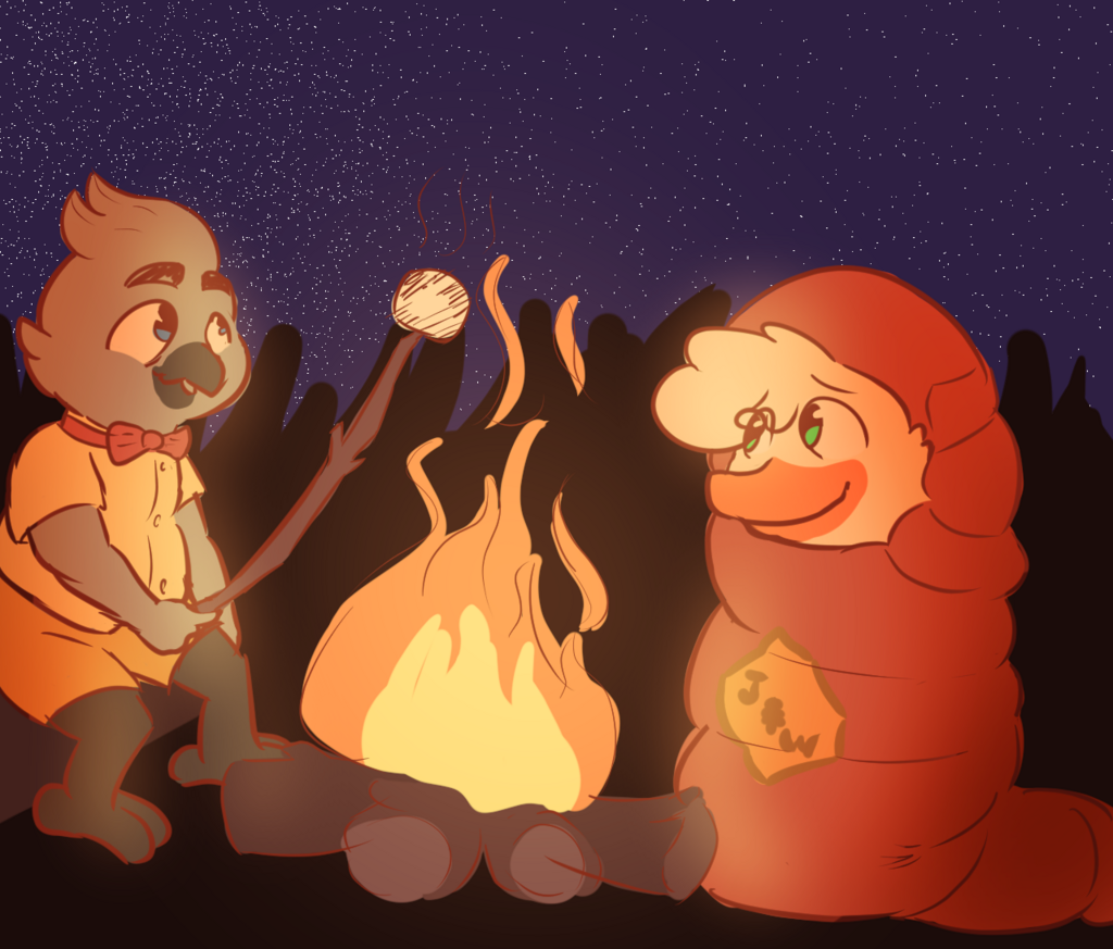 Huey and Boyd Goin Camping