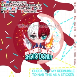 BNHA Shoto Donut + Speedpaint +Sticker
