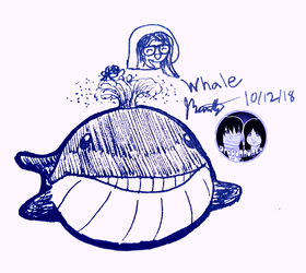 """Inktober 2018 - Day 12 """"Whale"""""""