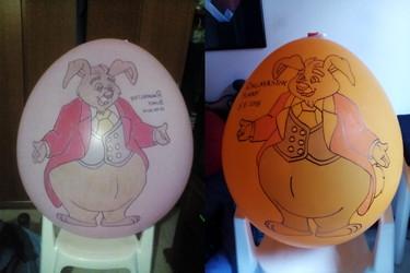 Ringmaster Bunny Balloons
