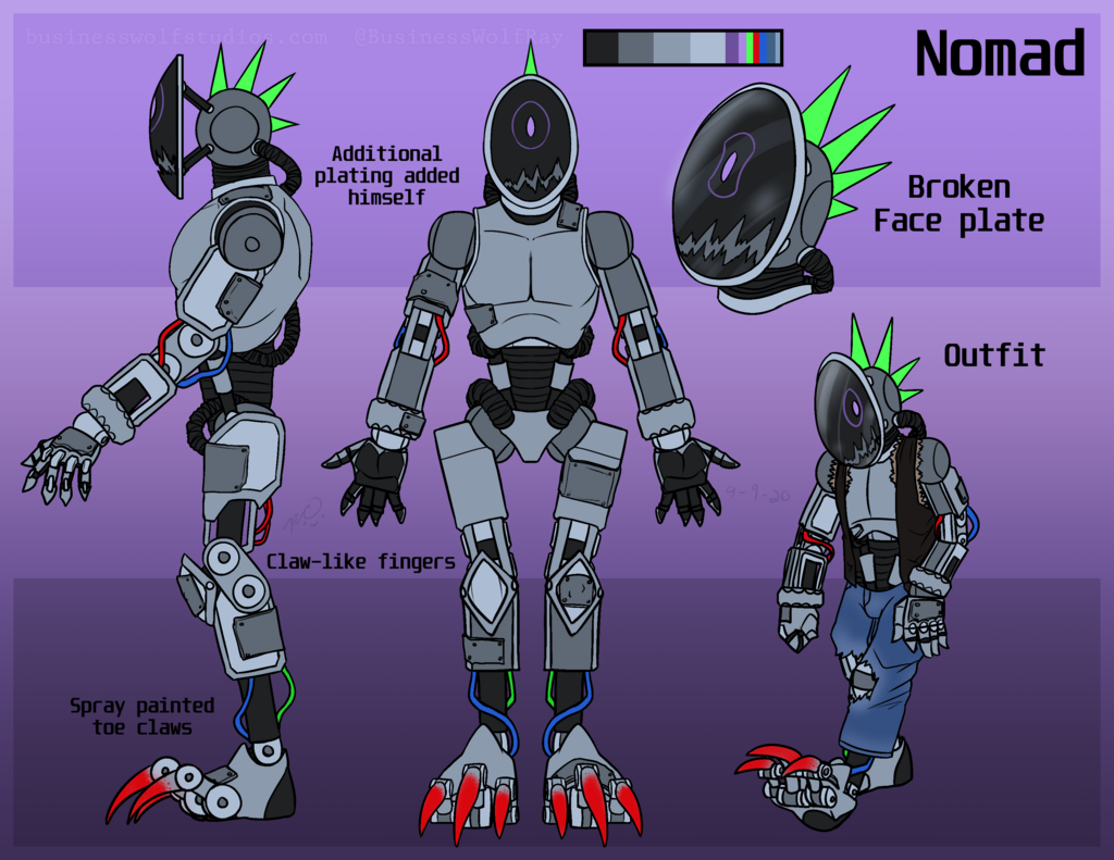 Nomad (Reference Sheet) - Art by BusinessWolf