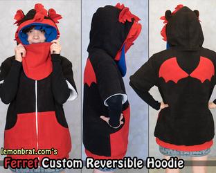 Ferret Custom Reversible Hoodie