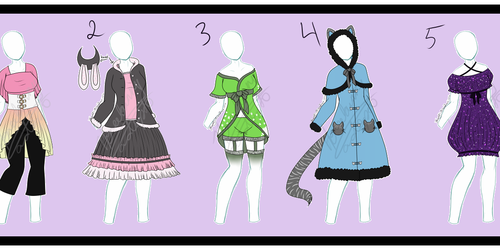 outfit adopts set one- open!