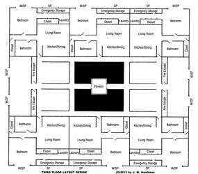 Caterwaul Apartment Complex Floor 3