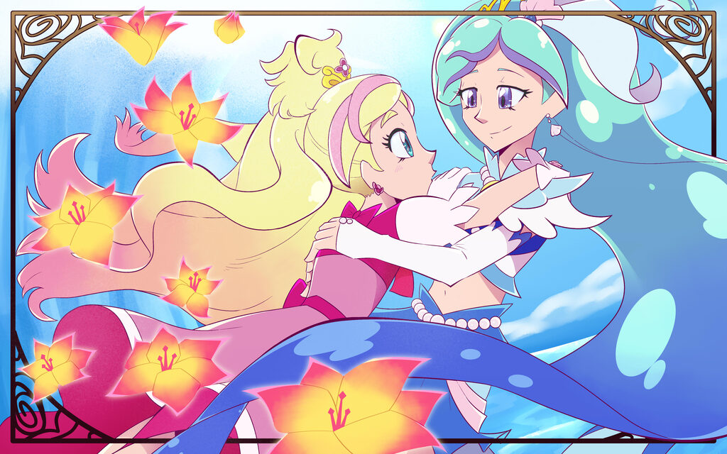 Most recent image: CURE FLORA AND CURE MERMAID