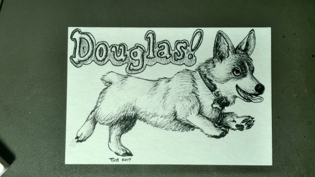 WIP trade: Douglas the Corgi