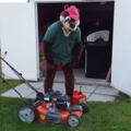 Reggie Mowing the Lawn (VIDEO)