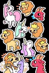 Unicorn, Dragon and Lion