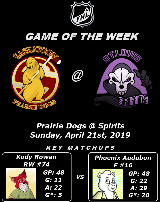 FHL Season 7 Game of the Week #18: Prairie Dogs @ Spirits