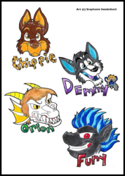 Chippie, Orion, Fury, and Demmy Badges