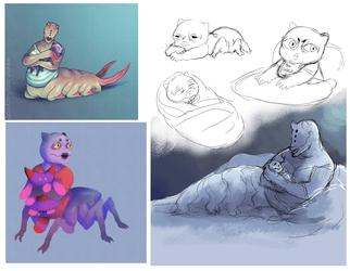 grub and benji doodles