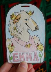 Emma Watercolor Badge