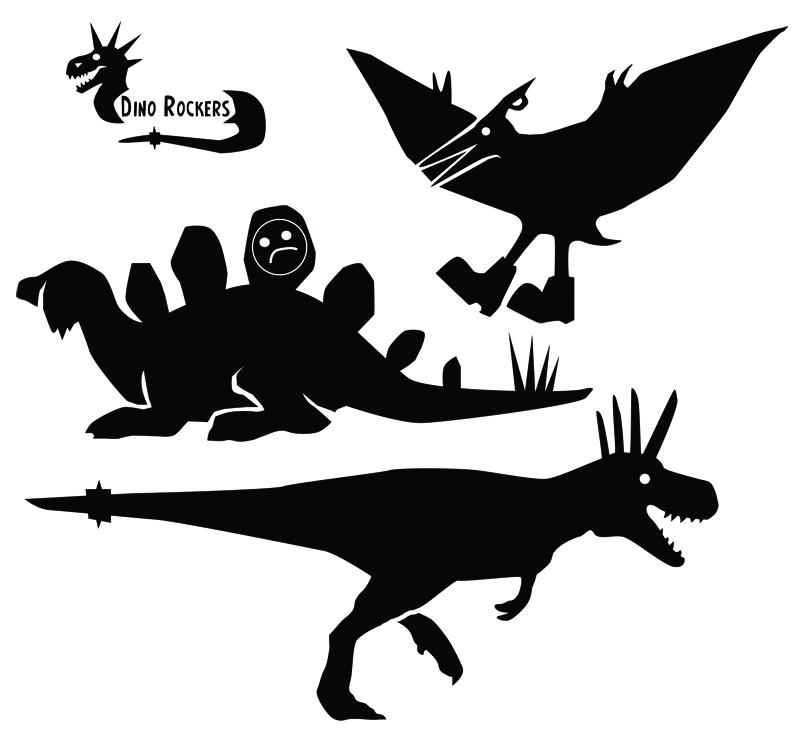 Dino Rockers Silhouttes