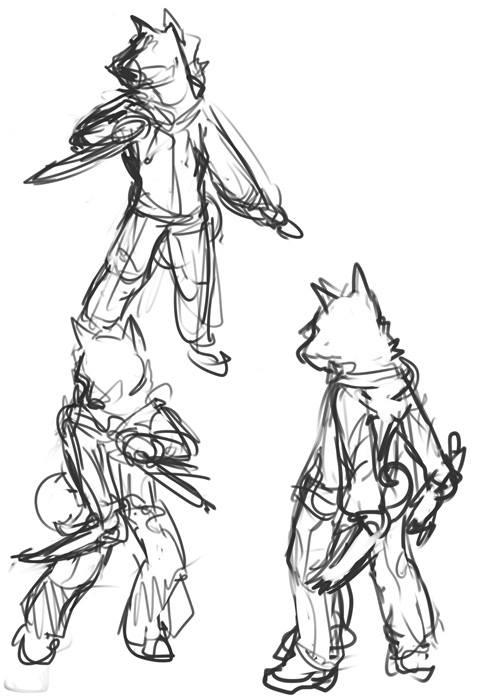 Caxton Battle Pose Concept