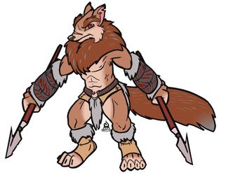 [2WOH] Barbarian Wolf