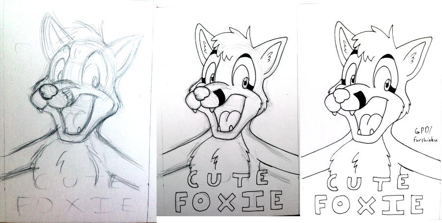 Cute Foxie badge WIPs